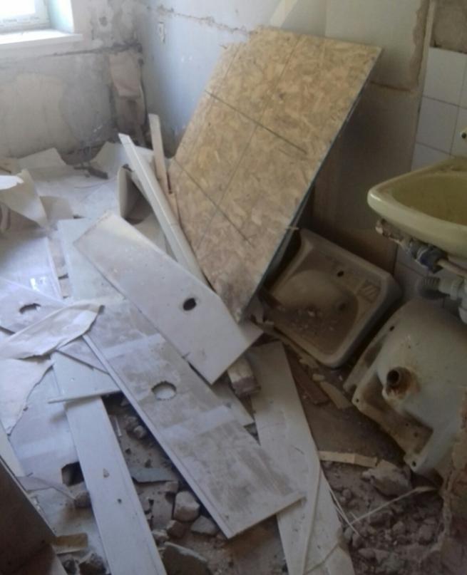 Ремонтные работы в медицинском корпусе №1 г. Бахмута